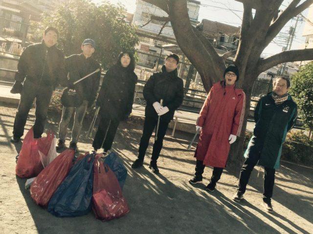『2月11日 寒いけどやります~クリーンアップ仙川!』 @ 仙川駅前公園(クイーンズ伊勢丹前)